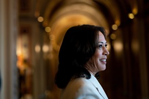 Sen. Kamala Harris (D-Calif.) speaks to reporters at the Capitol in Washington, Jan. 16, 2020. Harris endorsed former Vice President Joe Biden for president on Sunday, March 8, becoming the latest of his formal rivals for the Democratic nomination to get behind his presidential bid. - ERIN SCHAFF/THE NEW YORK TIMES