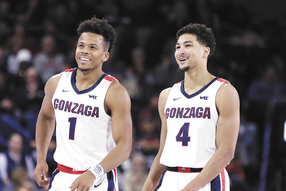 """Admon Gilder (left) and Ryan Woolridge bring speed and serious """"D"""" to this year's Zags. - ERICK DOXEY PHOTOS"""