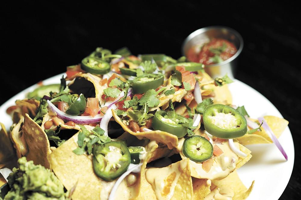 Cascadia's vegan nachos. - YOUNG KWAK PHOTO