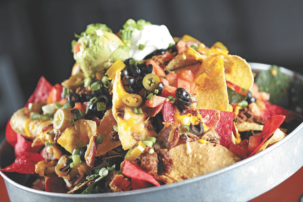 Some epic nachos from Spike's. - YOUNG KWAK PHOTO