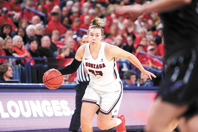 Jill Townsend earned WCC Player of the Year for 2019-20, but the Zags season was left unfinished thanks to COVID-19 precautions and March Madness cancellation. - GU ATHLETICS