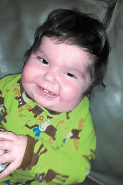 Most kids with complete DiGeorge syndrome, like Rayden (pictured), don't live past 1 years old.