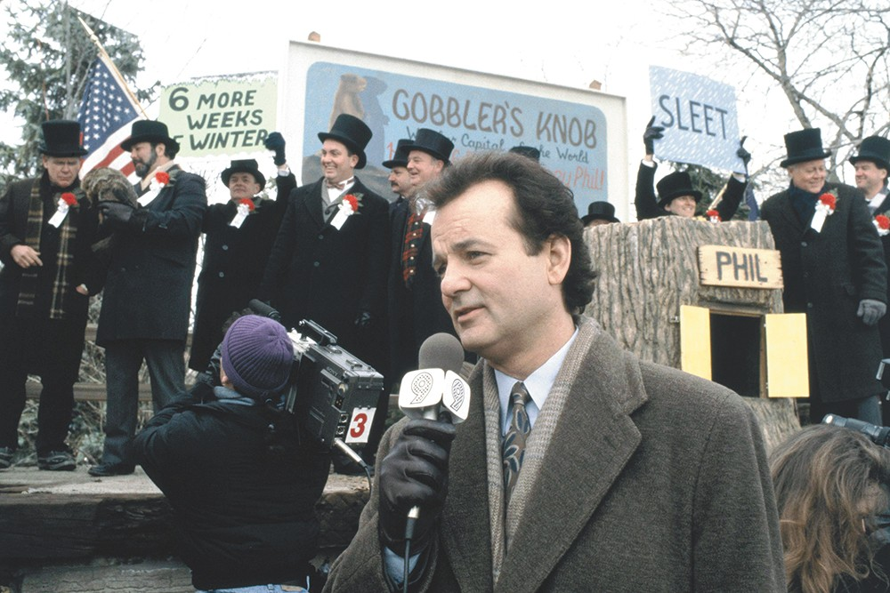 In Groundhog Day, Phil Connors lived through a certain kind of self-quarantine. Except it was funny.
