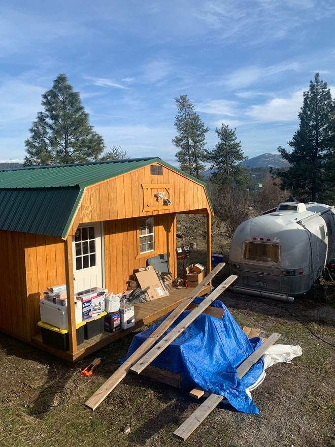 Ian Pickett's house in Stevens County is still under construction. - PHOTO COURTESY OF IAN PICKETT