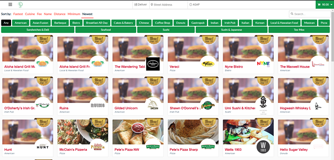 More than 40 local restaurants have joined Treehouse Deliveries' catalog. - TREEHOUSESPOKANE.COM SCREENSHOT
