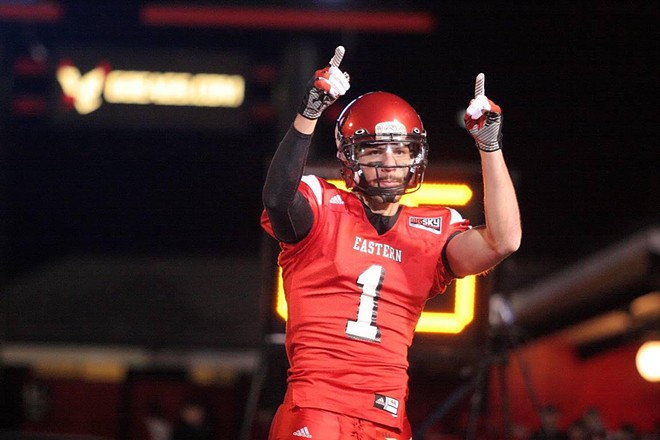 Brandon Kaufman caught a huge pass against Montana in 2012, but you can relive the excitement in 2020. - EWU ATHLETICS