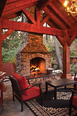 Fire draws people to relax and linger. - LEGACY LANDSCAPES