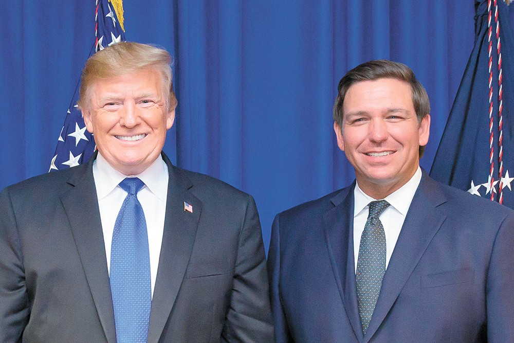 President Donald Trump and Florida Gov. Ron DeSantis - FLORIDA GOVERNOR'S OFFICE PHOTO