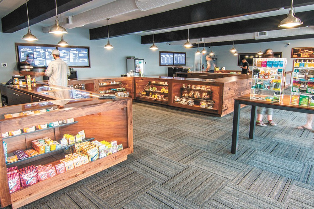 Cinder North is right around the corner from several other cannabis shops.