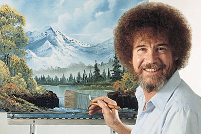 While you're cooped up inside, what better time to tap your inner Bob Ross?