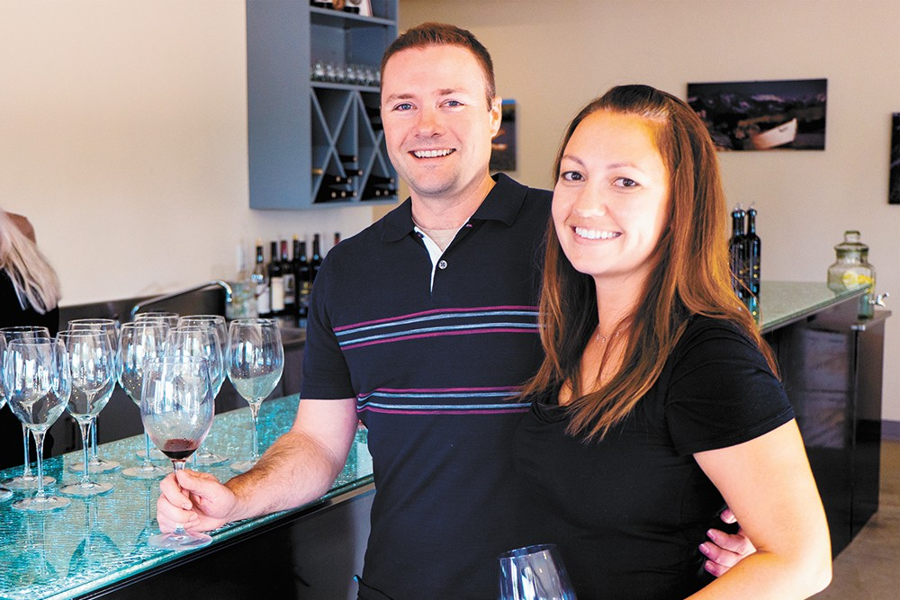 Liberty Lake Wine Cellars' Mark and Sarah Lathrop. - MAX LATHROP PHOTO