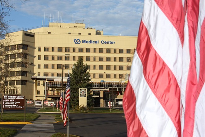 """Many veterans with COVID-19 staying at Mann-Grandstaff VA Medical Center hospital aren't """"hospitalized"""" according to the Spokane County Regional Health District. - SPOKANE VA FACEBOOK"""
