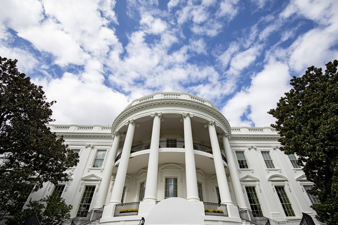 The south side of the White House, in Washington, Oct. 5, 2019. - SAMUEL CORUM/THE NEW YORK TIMES
