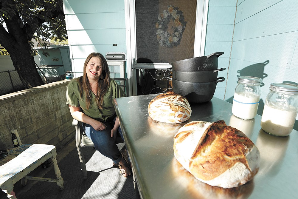 "Stacie Kearney's been introducing aspiring bakers to a sourdough starter named ""Carl"" throughout the pandemic. - YOUNG KWAK PHOTO"