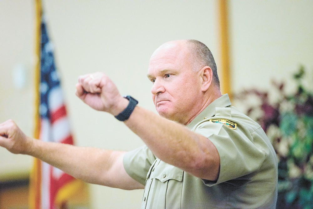 """Ozzie Knezovich is not going to run for county sheriff again, but he says that hasn't changed him. """"I'm pretty much the way I've always been."""" - DANIEL WALTERS PHOTO"""