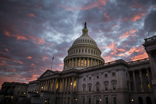The Capitol building at sunset in Washington, Nov. 6, 2018. - SARAH SILBIGER/THE NEW YORK TIMES