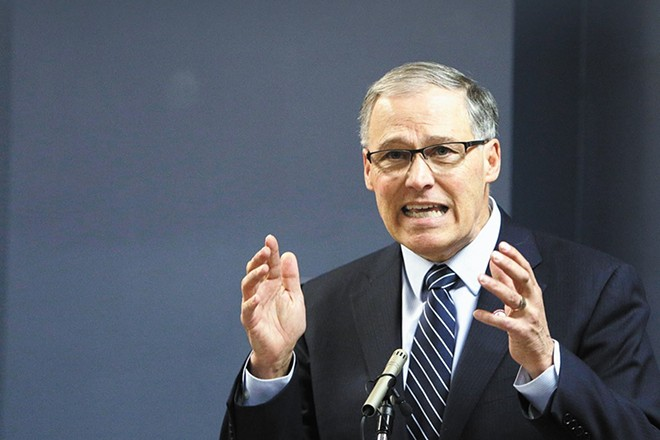 Washington Gov. Jay Inslee's approval ratings have had a big boost since his response to the coronavirus. - YOUNG KWAK PHOTO
