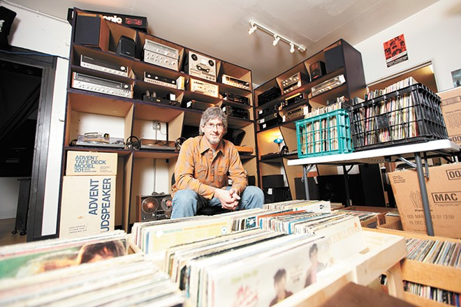 Places like Groove Merchants (with owner David Thoren) will help you embrace the old and make it feel new. - YOUNG KWAK PHOTO
