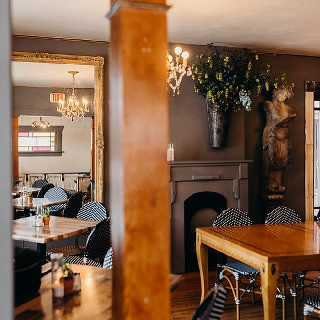 Chaps' charming converted farmhouse dining room is back open, but with a little less seating than usual. - CHAPS DINER & BAKERY