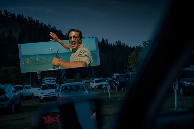 Auto Vue Drive-In's screening of Jaws seems to be a perfect fit. - DEREK HARRISON PHOTO ILLUSTRATION
