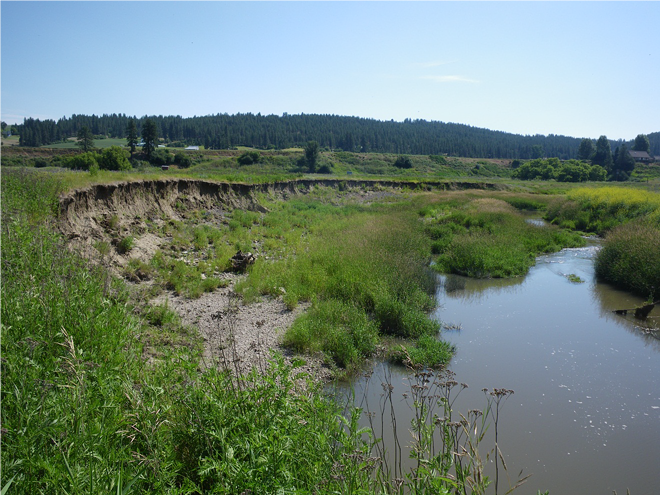 Erosion in Hangman Creek will be addressed through one of several major projects funded by the Department of Ecology last week. - WASHINGTON STATE DEPARTMENT OF ECOLOGY