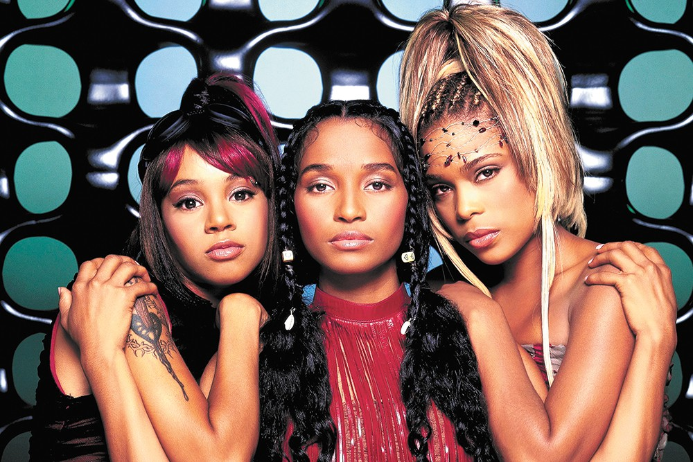 TLC , back in the day when they were three (R.I.P. Left Eye).