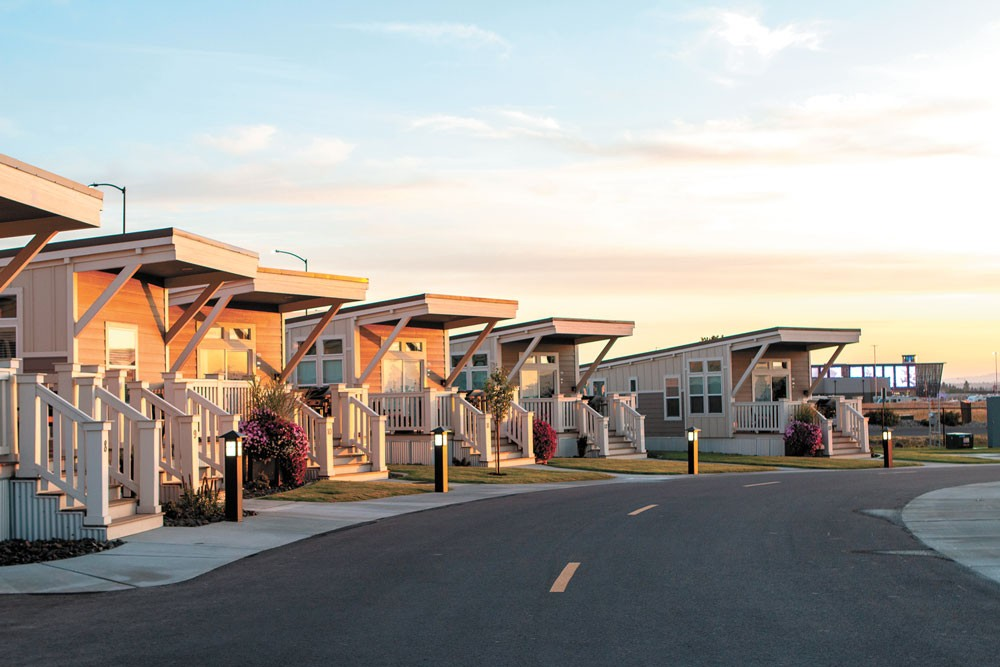 The RV resort at Northern Quest Resort & Casino includes one- and two- bedroom cottages. - NORTHERN QUEST RESORT & CASINO PHOTO