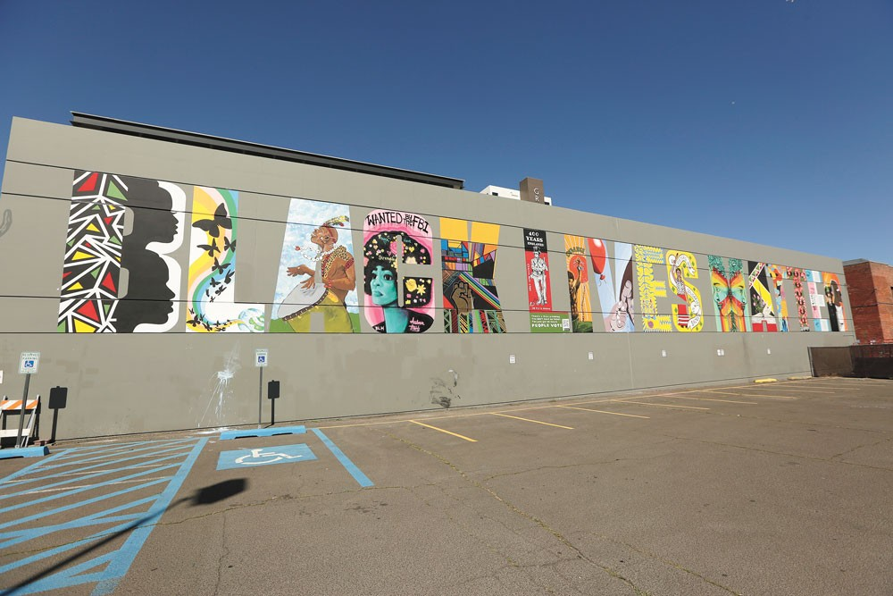 Each letter of the mural was painted by a different artist. - YOUNG KWAK PHOTO