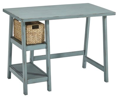 DESK PICK: Add a little whimsy with this petite, but perfectly functional desk. — Signature Design Mirimyn Trestle Desk, Runge Furniture in Coeur d'Alene