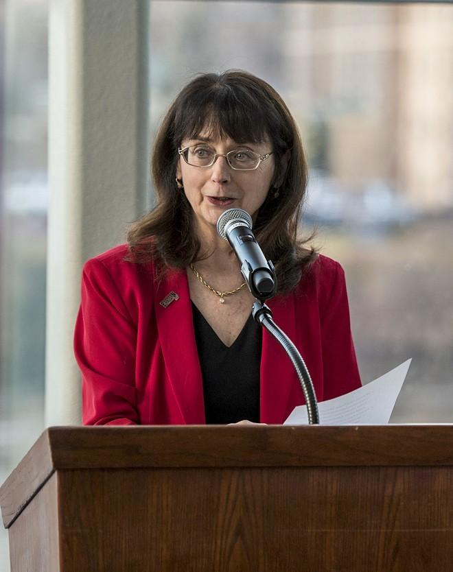 Mary Cullinan was president of EWU for six years. - EWU PHOTO