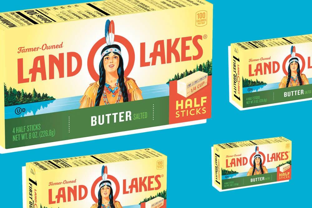 Land o' Lakes' Mia has been effectively erased.