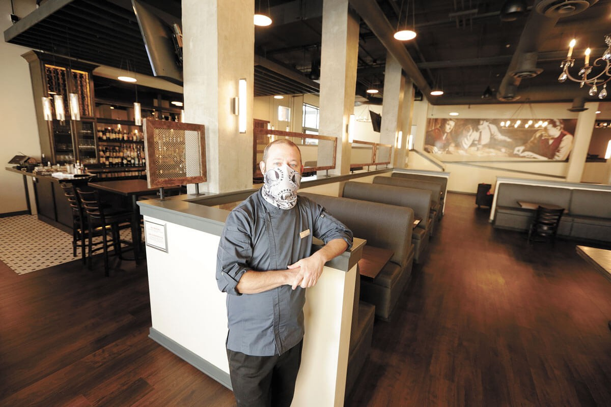 Executive Chef Steve Jensen in Magnolia's dining room. - YOUNG KWAK PHOTO