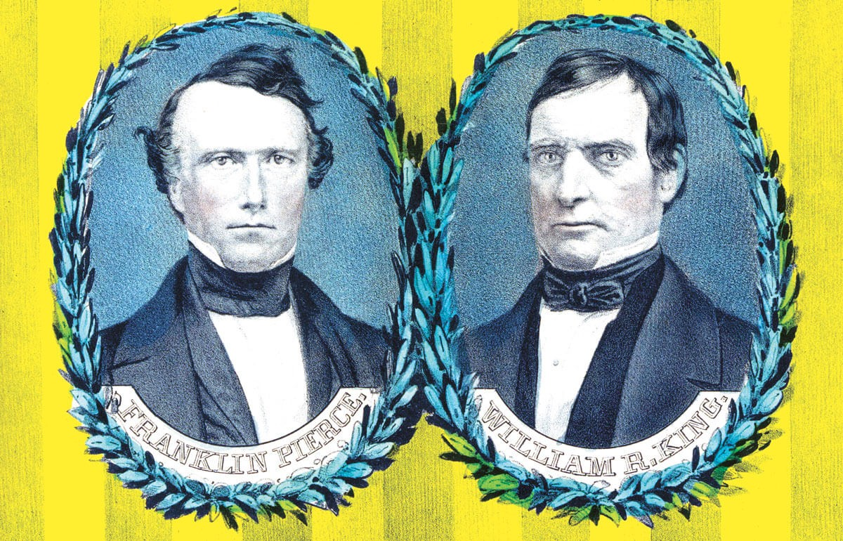 Franklin Pierce and William Rufus De Vane King were the original namesakes for Pierce and King counties in Washington state. - NATIONAL PORTRAIT GALLERY/SMITHSONIAN INSTITUTION
