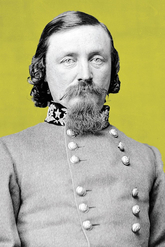 George Edward Pickett, a major general in the Confederate States Army during the Civil War, is the namesake of Mount Pickett on Orcas Island. - NATIONAL ARCHIVES