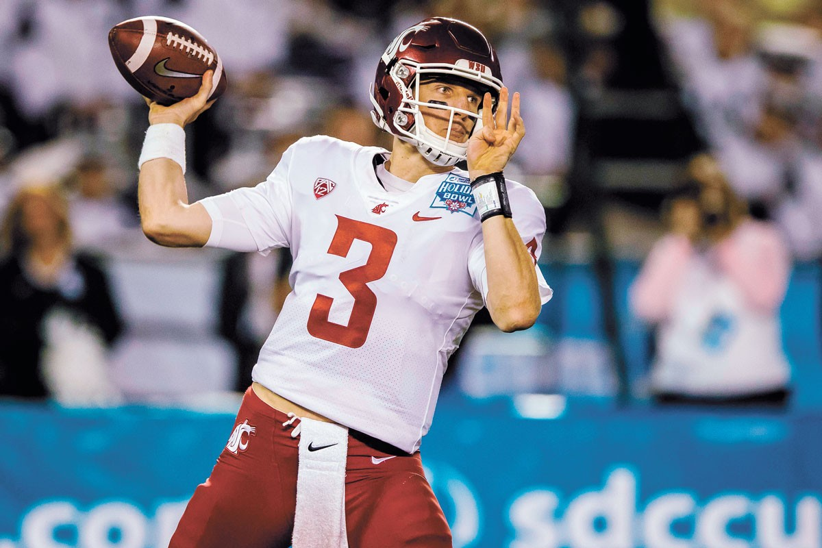 WSU quarterback Tyler Hilinksi died by suicide in 2018. Since then, his parents have become vocal mental health advocates. - WSU ATHLETICS