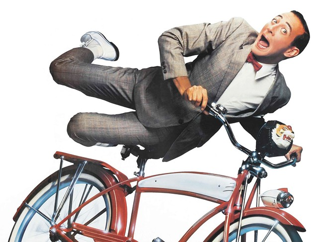 Imagine yourself on Pee-wee's bike.