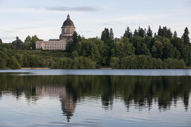 Washington state's capital building is seen in Olympia, Washington on Thursday, June 14, 2017. - MATT M. MCKNIGHT/CASCADE PUBLIC MEDIA