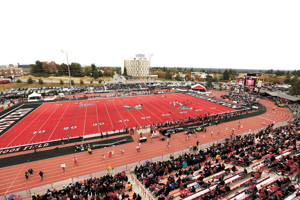 EWU's Roos Field has new turf, but will have to wait to see fans again. - YOUNG KWAK PHOTO