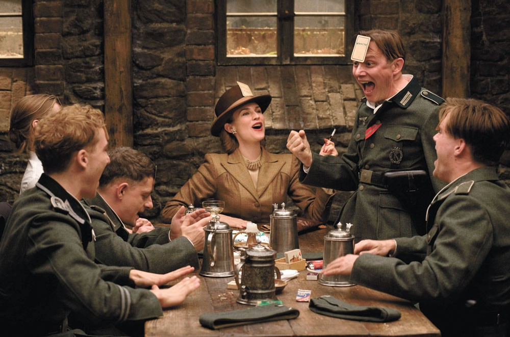 Using a song from another soundtrack is part of the delightful weirdness of Quentin Tarantino's Inglourious Basterds.