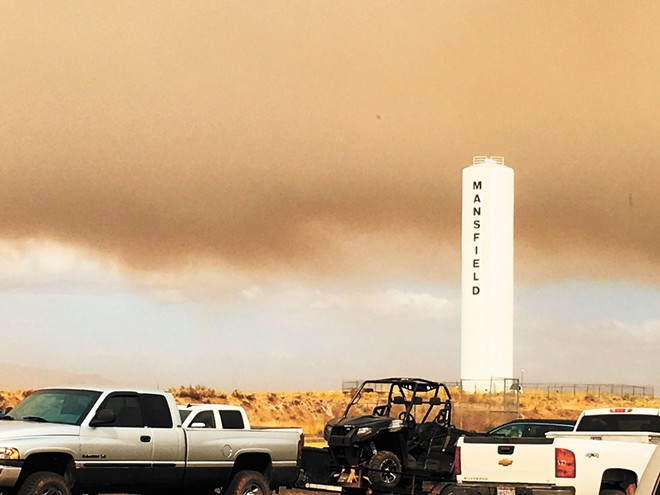 Hundreds of square miles burned on Monday, prompting the evacuation of towns like Mansfield, Washington. - TIFFANY PRESTON PHOTO