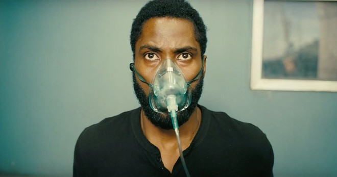 Mask up: John David Washington in Tenet.