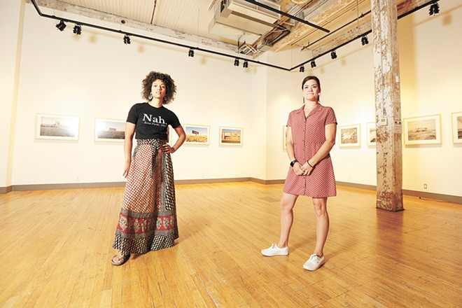 Terrain's Ginger Ewing (left) and Jackie Caro are trying to steer the Spokane arts organization through the COVID pandemic. - YOUNG KWAK PHOTO