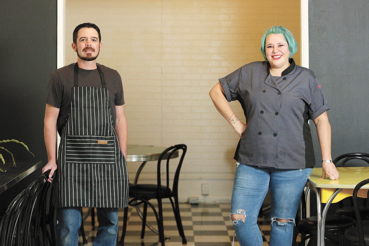 Ryan Stretch and Kadra Evans are partners in the Garland District's new Little Noodle. - YOUNG KWAK PHOTO