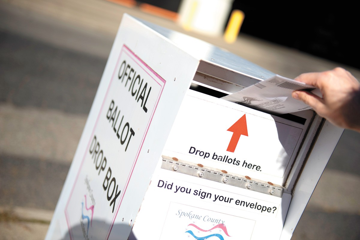 Polls show that nationally, more Democrats plan to vote by mail this year than Republicans, who plan to vote in person. - DEREK HARRISON PHOTO