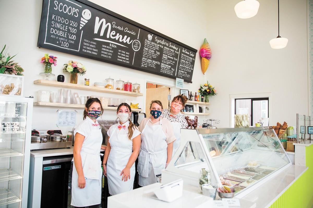 Sweet Annie's Artisan Creamery now has its own shop. - ARI NORDHAGEN PHOTO