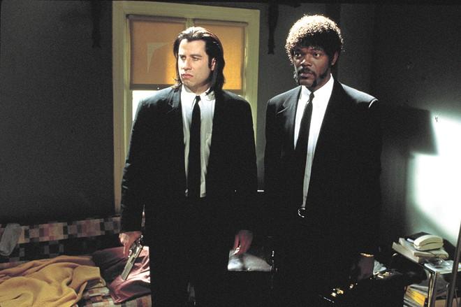 Vincent (John Travolta) and Jules (Samuel L. Jackson), two of Tarantino's best characters.