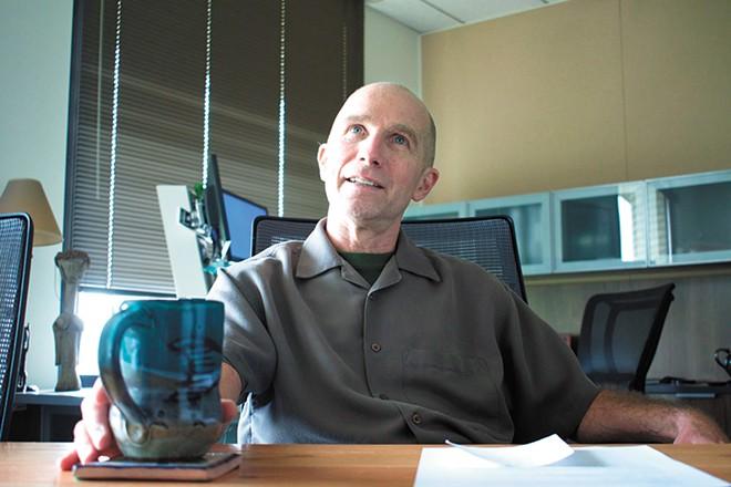 Dr. Bob Lutz took over as Spokane Regional Health District officer in June 2017. - WILSON CRISCIONE PHOTO