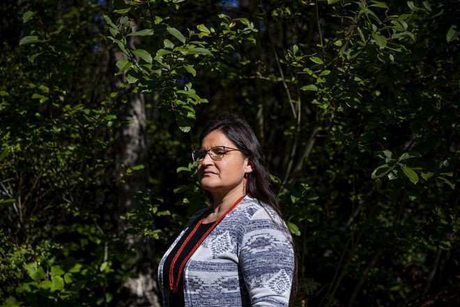 Washington Supreme Court Justice Raquel Montoya-Lewis outside of her Lacey home on Oct. 12, 2020. - DOROTHY EDWARDS/CROSSCUT