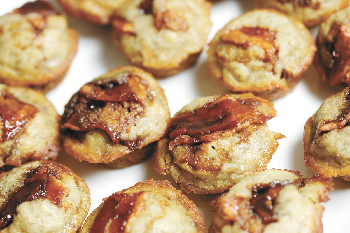 Once you decarb your weed, then you can make some delicious cannabis-infused treats — like these bacon banana muffins. - YOUNG KWAK PHOTO
