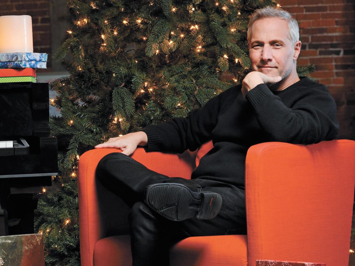Jim Brickman contemplates his next Christmas jam.